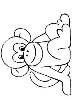 Colouring Pics, Coloring Book Pages, Drawing For Kids, Art For Kids, Nursery Rhymes Preschool, Monkey Pattern, Jungle Art, Safari Party, Baby Art