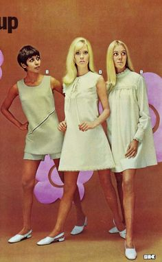 Mary Quant Collection For Kays - 1968 Seventies Fashion, 1960s Fashion, Vintage Fashion, Women's Fashion, Vintage Style, Mary Quant, Famous Women, Fashion History, Vintage Outfits