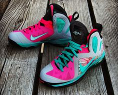 "Nike LeBron 9 PS Elite ""Miami Beach"" Custom"