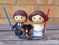 Star Wars themed wedding cake topper. https://www.facebook.com/genefyplayground