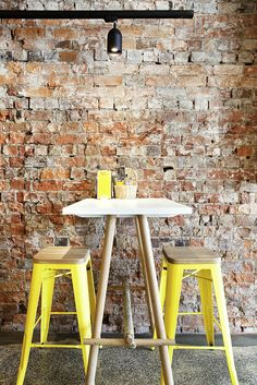 Idée à retenir :  table haute et tabourets