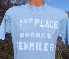 vintage t-shirt 70s 1st place ten mile brooks flock by skippyhaha