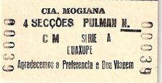 Museu Ferroviário Virtual - Antigo bilhete da Cia Mogiana