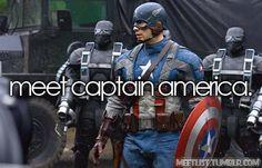 Meet Captain America. (Fictional Bucket List)