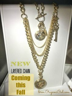 Coming this Fall! New layered Gold Chain! bren.OrigamiOwl.com blog:MyMemoryKeepers.com #OrigamiOwl