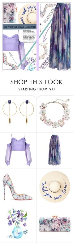 """""""Out of a Fairy Tale"""" by dani-elan ❤ liked on Polyvore featuring Isabel Marant, Betsey Johnson, Chicwish, Christian Louboutin, Eugenia Kim and Ted Baker"""