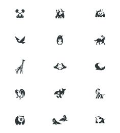 Negative space animal logos by Bodea Daniel.