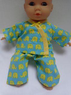 Dolls Clothes Elephant  Pyjamas to fit 30cm (12inch) baby dolls ELC Cupcake  £5.25