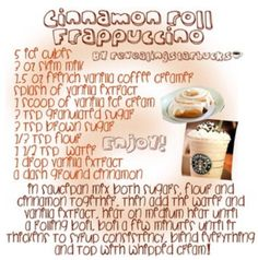 Starbucks recipe