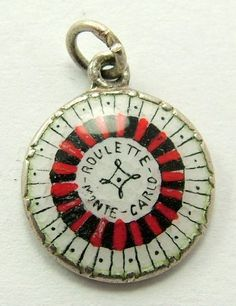 Silver & Enamel Roulette Wheel Charm
