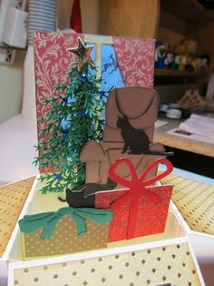 Calla Lily Studio Blog: Card in a Box!  Oohhh....love this one for Christmas!!!!!  Will have to try at least one!
