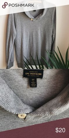 Men's Gray Shawl Collar Lightweight Sweater Good condition with slight piling. Lightweight tee material sweater is a great layering piece. CPO Provisions Sweaters