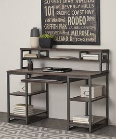 Look what I found on #zulily! Barnside Metro Pedestal Desk & Hutch #zulilyfinds