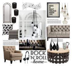 Rock N Roll Home By Helenevlacho Liked On Polyvore Featuring Interior