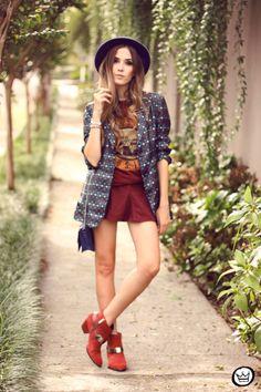 Look confortável e divertido! Com blazer de bolinhas super fofo e versátil! <3 Fashion Coolture