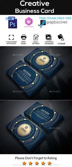 Creative Business Card. - Creative Business Cards   https://graphicriver.net/item/creative-business-card/20475828?ref=alena994