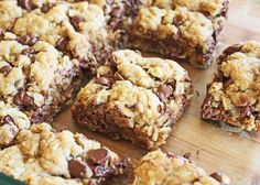 Oatmeal Chocolate Chip Bars from Jamie Cooks It Up!