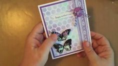 Tim Holtz Watercolor Mother's Day Butterfly Cards