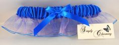 Electric Blue Ombre Prom Garter