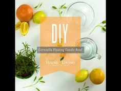 DIY Citronella Floating Candle Bowl