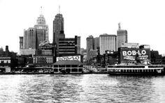 History 101 with Davinci the Detroit dog; Detroit riverfront 1070's