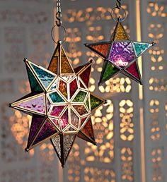 Moroccan style large star glass lantern pinned via @Sahrazade