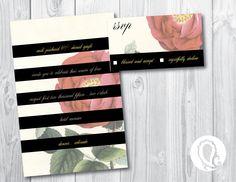 Wedding Invitation and RSVP card @paisleyprintsonline.com