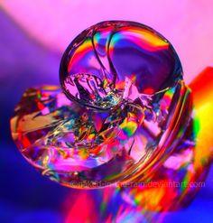 Rainbow Sea Shell by *naked-in-the-rain on deviantART