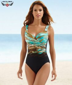 1340eeb53b Cheap one-piece suit, Buy Quality monokini women directly from China  monokini plus size Suppliers: Multicolor Women Print One-piece Swimsuits  Bandage High ...