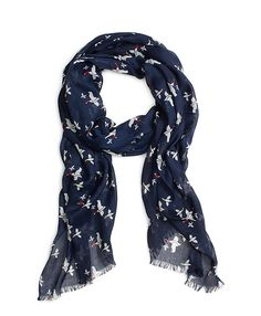 birds printed scarf - Blue Alexander McQueen wsCgoR