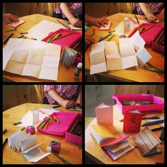 Make a Tiny Book from 1 Sheet of Paper ~ Pen Pals & Picture Books