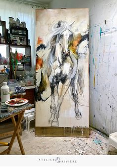 40 Easy Abstract Animals Painting Ideas which will Leave you Amazed Abstract Horse Painting, Watercolor Horse, Abstract Animals, Horse Drawings, Art Drawings, Cement Art, Animal Paintings, Horse Paintings, Pastel Paintings