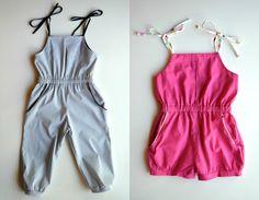 Free Sewing Pattern Girls Romper