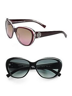 286acdd8eb7 Tory Burch TY7005 50111 Black Grey 56mm Sunglasses Tory Burch.  78.37 Cat  Eye Sunglasses