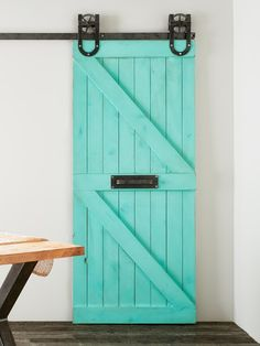 Traditional Double Z Styled Solid Alder Sliding Barn Door