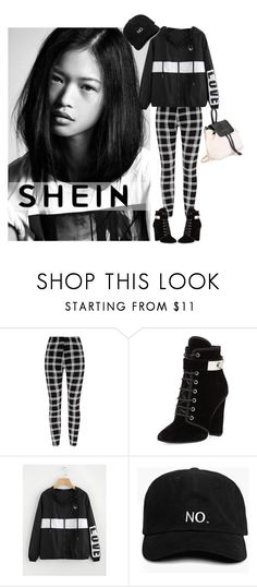 """windbreaker jacket shein"" by live-ska ❤ liked on Polyvore featuring Giuseppe Zanotti"