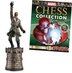 Red Skull figurine chess piece