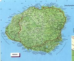 Kauai | Kauai Map See map details From botany.hawaii.edu