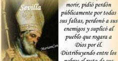 "SAN ISIDORO DE SEVILLA Cartagena, Espña - Sevilla, España (556 †636) ""Isidoro"" significa: ""Regalo de la divinidad"" (Isis: divinidad. Doro: regalo) Doctor de la Iglesia, Obispo. Isidoro  significa Regalo de la - See more at: http://santoralmariareina.blogspot.com/2012/04/san-cleto-roma-italia-88-martir-papa-en.html#.dpuf"