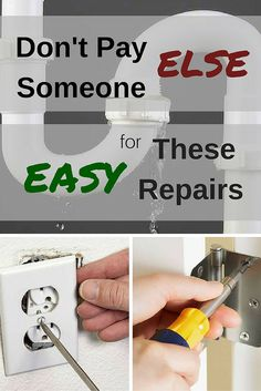 Don't hire someone to do the easy jobs around your home. There are lots of home projects that you can and should DIY.