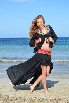 Falda Free Love Ibiza Indian en negro – Ibiza Trendy | Tienda online | Online store