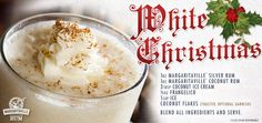 White Christmas - Frozen Cocktail with Margaritaville Silver Rum