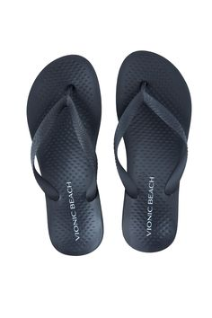 3145631ae Vionic Beach Manly - Men s Arch Supportive Flip Flops Black black - 9  Medium Supportive