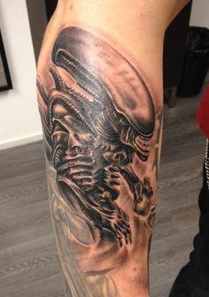 Xenomorph alien tattoo.