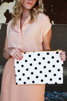 Mini Polka Dot Clutch Purse from Red Velvet  $32