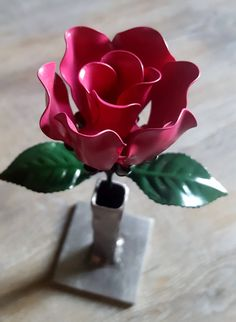 Pink Steel Rose by SteelRosesCo on Etsy