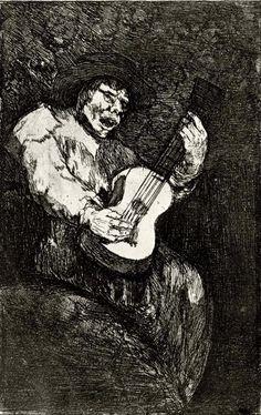 El cantor ciego - Francisco de Goya- WikiArt.org