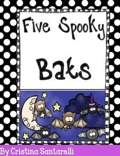 "Bats pocket chart activity: This free download includes an original poem ""Five Spooky Bats"" inspired by the Halloween favorite, Five Little Pumpkins.  Included:Printable pocket chart sentence strips and 5 bats to use along with the poem.  I hope your little ones enjoy this interactive poem!"