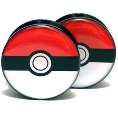 Find More Body Jewelry Information about 2pcs/Lot Pair of UV Acrylic Ear Plugs Screw Fit Ear Gauges Plugs   Pokemon Ball Logo  6MM 25MM 2G 1'',High Quality ear gauges,China gauge plug Suppliers, Cheap ear gauges plugs from DreamFire Store on Aliexpress.com