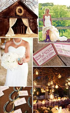 Perfect Little Country Wedding. I love the horse shoes